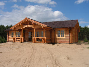 Casas de tronco redondo - Casas de troncos redondos ...